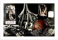 "Kevin McHale Boston Celtics ''Tribute to Greatness'' Autographed 16"" x 20"" Litho By Allen Hackney"