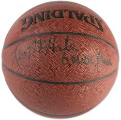 Boston Celtics Kevin McHale and Robert Parish Autographed Spalding Indoor/Outdoor Basketball - Mounted Memories