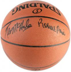 Kevin McHale & Robert Parish Autographed Spalding Official NBA Basketball - Mounted Memories