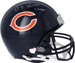 "Jim McMahon Chicago Bears Autographed Pro Line Riddell Authentic Helmet with ""SB XX Champs"" Inscription - Mounted Memories"