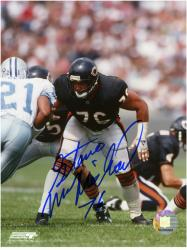 Chicago Bears Steve McMichael Autographed 8'' x 10'' Photograph with ''SB XX'' Inscription - Mounted Memories