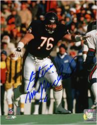 "Chicago Bears Steve McMichael Autographed 8"" x 10"" Photograph with ""76 Bears"" Inscription"