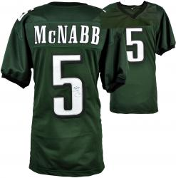 Donovan McNabb Philadelphia Eagles Autographed Green Jersey - Mounted Memories