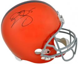Donovan McNabb Syracuse Orange Autographed Riddell Replica Helmet - Mounted Memories