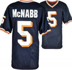 Donovan McNabb Syracuse Orange Autographed Blue Jersey - - Mounted Memories