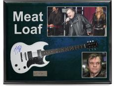 Meat Loaf Autographed Guitar + Display Shadowbox Custom Case