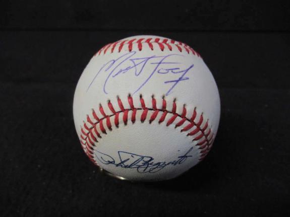 Meat Loaf & Phil Rizzuto Oalb Baseball Jsa Coa Bl108