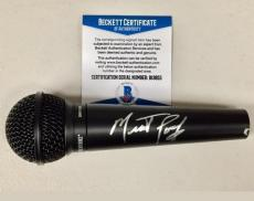 MEAT LOAF Signed MIC Microphone BAS Beckett COA Autograph ~ Bat Out of Hell