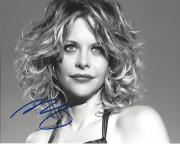 """MEG RYAN - Movies Include """"TOP GUN"""", """"SLEEPLESS in SEATTLE"""", and """"YOU'VE GOT MAIL"""" Signed 10x8 B/W PHOTO"""