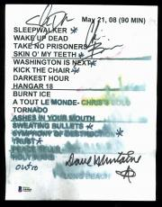 Megadeth (3) Mustaine, Brodrick & Drover Signed Set List BAS #A84985