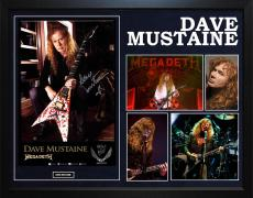 Megadeth Dave Mustaine Autographed Dean Guitar Framed Photo Poster Display