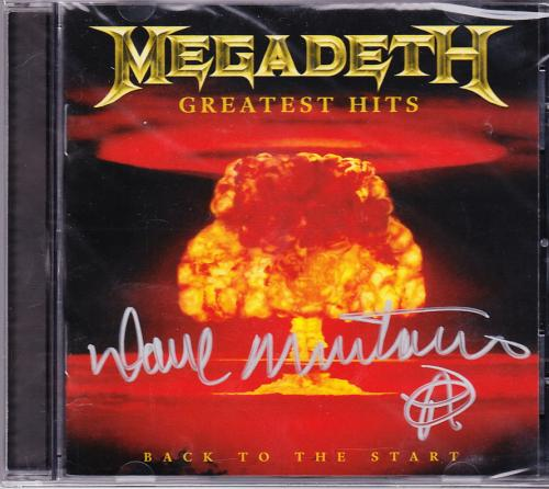Megadeth Greatest Hits Cd Signed By Dave Mustaine Amazon Exclusive Sealed Disc