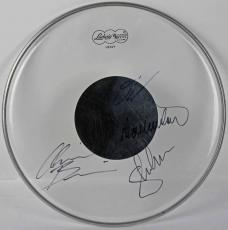 Megadeth Signed Remo Drumhead Mustaine Ellefson Drover Metal! Psa/dna Loa T11229