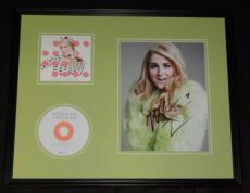 Meghan Trainor Signed Framed 16x20 Lips Are Movin CD & Photo Display