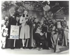 """MEINHARDT RAABE as the CORONER in the 1939 Film """"THE WIZARD OF OZ"""" (Passed Away 2010) Signed 10x8 B/W Photo"""