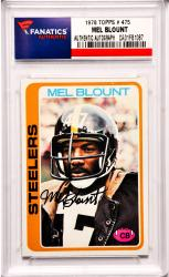 Mel Blount Pittsburgh Steelers Autographed 1978 Topps #475 Card