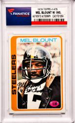 Mel Blount Pittsburgh Steelers Autographed 1978 Topps #475 Card with 4 X SB Champ Inscription