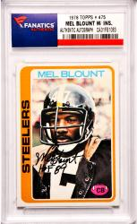 Mel Blount Pittsburgh Steelers Autographed 1978 Topps #475 Card with HOF 89 Inscription
