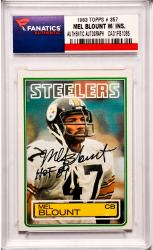 Mel Blount Pittsburgh Steelers Autographed 1983 Topps #357 Card with HOF 89 Inscription