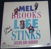 "Mel Brooks Actor Movie Director Signed ""life Stinks"" Laser Disc Album"