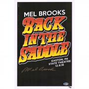 "Mel Brooks Back in the Saddle Autographed 12"" x 18"" Movie Poster -BAS"
