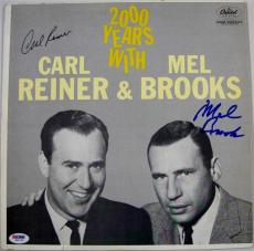 Mel Brooks & Carl Reiner Dual Signed 2000 Years With Vinyl Record PSA Auto