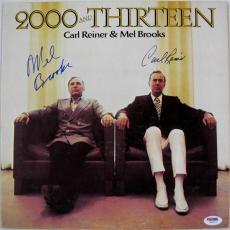 Mel Brooks & Carl Reiner Signed Autograph 2000 and Thirteen Vinyl Record PSA C