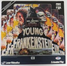 Mel Brooks & Cloris Leachman Signed Young Frankenstein Auto Laser Disc PSA/DNA