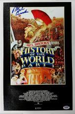 MEL BROOKS Signed 11x17 Canvas Photo HISTORY OF THE WORLD PT.1 PSA/DNA W52869