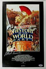 MEL BROOKS Signed 11x17 Canvas Photo HISTORY OF THE WORLD PT.1 PSA/DNA W52875