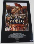 Mel Brooks Signed 12x18 Photo History Of The World Poster Autograph Proof Psa