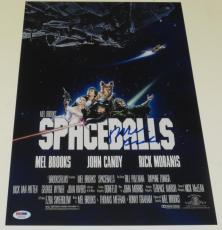 Mel Brooks Signed 12x18 Photo Spaceballs Poster Authentic Autograph Proof Psa