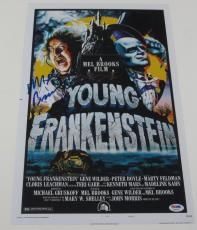 Mel Brooks Signed 12x18 Photo Young Frankenstein Poster Autograph Proof Psa