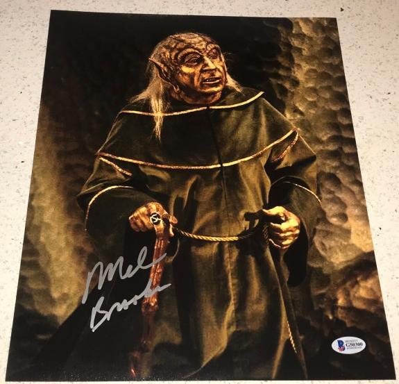 Mel Brooks Signed Autograph Classic Scene Comedy Legend 11x14 Photo Proof Bas F
