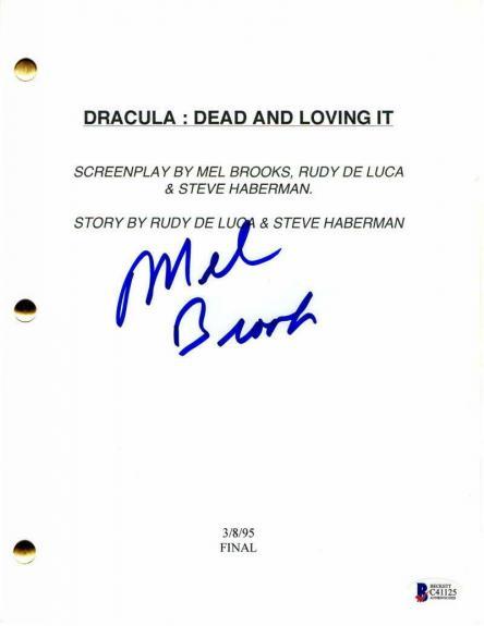 Mel Brooks Signed Autograph - Dracula: Dead And Loving It Full Movie Script