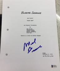 "Mel Brooks Signed Autograph Full ""blazing Saddles"" Movie Script Beckett Coa"