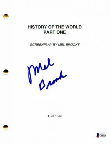 Mel Brooks Signed Autograph - History Of The World, Part 1 Full Movie Script - I