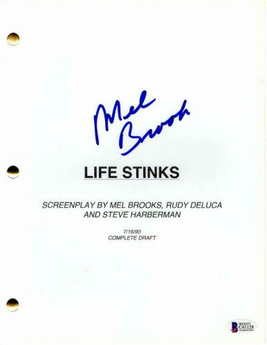 Mel Brooks Signed Autograph - Life Stinks Movie Script - Jeffrey Tambor, Coa