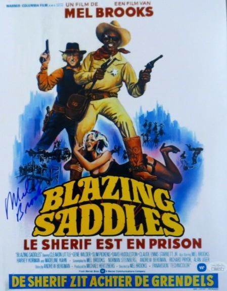 Mel Brooks Signed Autographed 11X14 Photo Blazing Saddles Overseas JSA DD60779