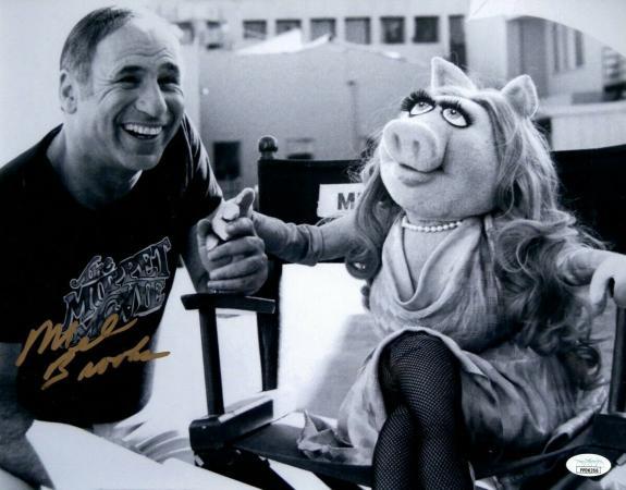 Mel Brooks Signed Autographed 11X14 Photo Muppet Show Miss Piggy JSA FF06356
