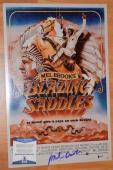 Mel Brooks Signed Autographed 12x18 Poster Blazing Saddles BAS COA
