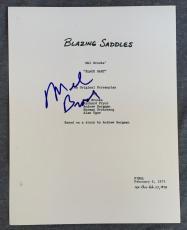 Mel Brooks Signed Autographed Blazing Saddles Full Movie Script Screenplay COA