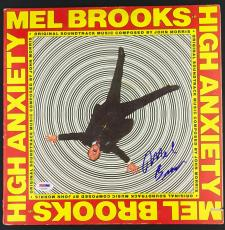 Mel Brooks Signed Autographed High Anxiety Album Disc PSA/DNA