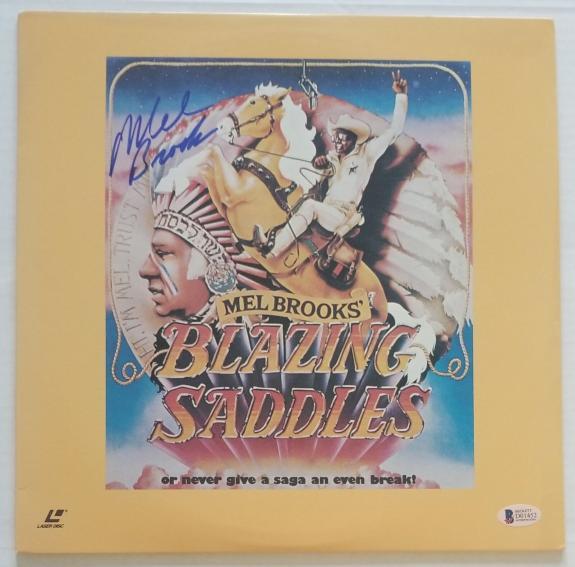 Mel Brooks Signed Blazing Saddles Wb Laser Disc Bas Coa Record Album Autograph