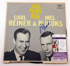 Mel Brooks Signed Record Album 2000 Years with Carl Reiner & Mel Brooks JSA AUTO