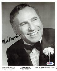Mel Brooks Signed Silent Movie Autographed 8x10 B/W Photo PSA/DNA #U99159
