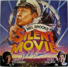 Mel Brooks Signed Silent Movie Vinyl Record PSA/DNA Auto Autograph