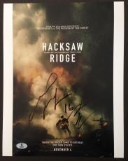 Mel Gibson & Andrew Garfield Signed 11x14 Photo Beckett Coa Hacksaw Ridge Bas