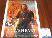 Mel Gibson Signed 11x14 Braveheart Lethal Weapn Oscar Winner BAS Beckett