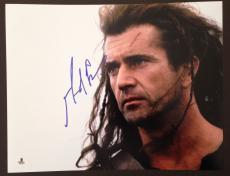 Mel Gibson Signed 11x14 Photo Beckett Coa Autograph Braveheart Bas
